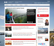 Canadian Tourism website