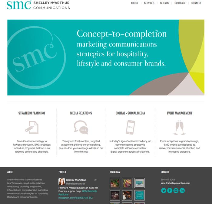 Shelley McArthur Communications website